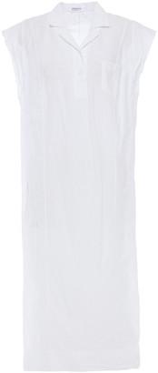 Stateside Frayed Cotton Midi Shirt Dress