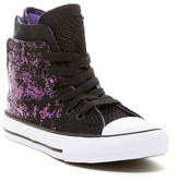 Converse Glam Back Zip High-Top Sneaker (Little Kid & Big Kid)