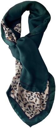 Pedro Del Hierro Green Silk Scarves