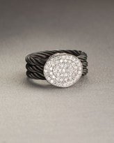 Round Diamond Cable Ring