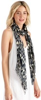 Sole Society Abstract Ikat Print Scarf