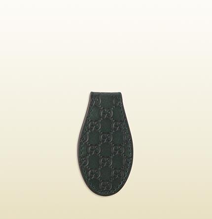 Gucci Microguccissima Leather Money Clip