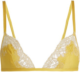 Carine Gilson Lace-trimmed silk-satin soft-cup bra