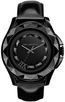 Karl Lagerfeld Black Stainless Steel Pyramid Stud Watch
