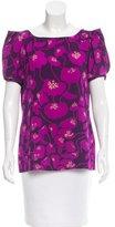 Diane von Furstenberg Floral Printed Silk Blouse