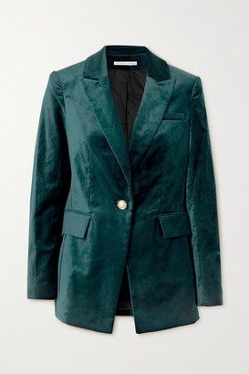 Veronica Beard Long And Lean Dickey Cotton-blend Velvet Blazer - Navy