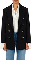 Chloé Women's Double-Breasted Knit Peacoat-BLACK