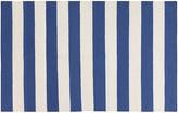 One Kings Lane Hermie Flat-Weave Rug - Blue - 5'x8'