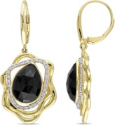 Catherine Malandrino 18k Yellow Gold Plated Abstract Earrings.