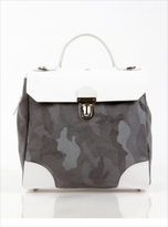Jam Love London Hillside Urban Backpack in White Grey Camouflage