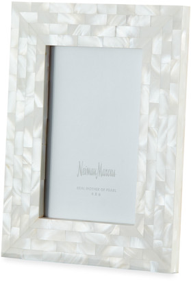 """Mother of Pearl The Jws Collections Mother-of-Pearl Picture Frame, White, 4"""" x 6"""""""