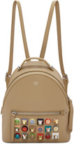 Fendi Beige Mini Studded Backpack