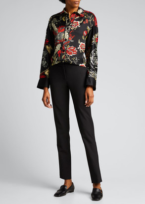 F.R.S For Restless Sleepers Floral-Print Button-Down Silk Shirt