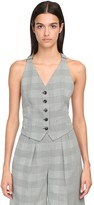 Max Mara DOUBLE CREPE PRINCE OF WALES VEST