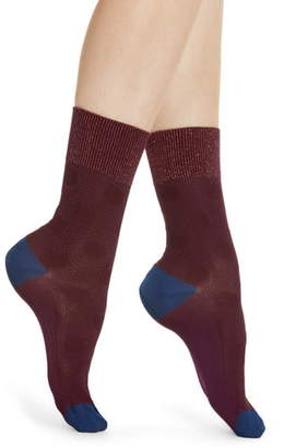Hysteria By Happy Socks Viktoria Metallic & Dot Crew Socks