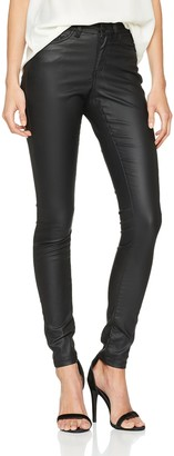 Name It NOISY MAY Women's Nmlucy Nw Deluxe Coated Pants Noos Slim Jeans