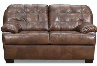 Emmalyn Leather Loveseat Millwood Pines Upholstery Color: Gray