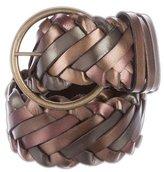 Carlos Falchi Woven Leather Belt w/ Tags