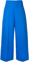MSGM cropped wide-leg trousers - women - Cotton - 42