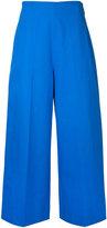 MSGM cropped wide-leg trousers - women - Cotton - 44