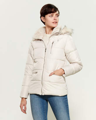U.S. Polo Assn. Faux Fur-Trimmed Hooded Puffer Jacket
