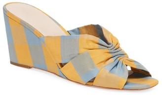Loeffler Randall Sonya Madras Silk Wedge Mules