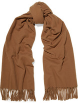 Acne Studios Canada Fringed Wool Scarf - Brown