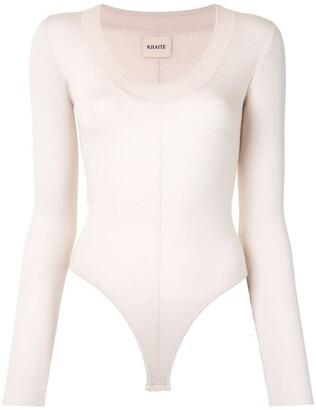 KHAITE Clover wool bodysuit