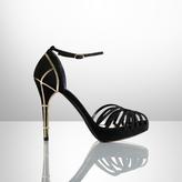 Ralph Lauren Jemise Suede & Metallic Sandal