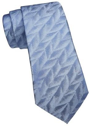 Emporio Armani Feather Jacquard Silk Tie