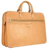 Robe Di Firenze Women's Sand Double-Gusset Soft Leather Briefcase