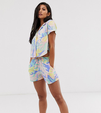 Onia Sole East By Sole East by Exclusive Aleen beach shorts in palm print
