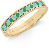 Kate Spade Blue and Green Enamel Patterned Bangle Bracelet