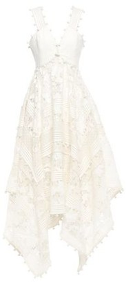 Zimmermann Gauze-paneled Embellished Cotton And Silk-blend Lace Dress