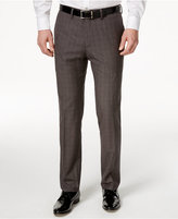Kenneth Cole Reaction Men's Slim-Fit Windowpane Dress Pants