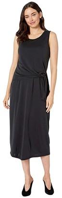 Tribal Knot Front Detail Dress (Black) Women's Clothing