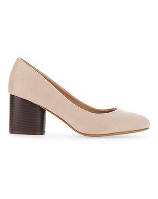 Simply Be Claudius Round Heel Court Extra Wide