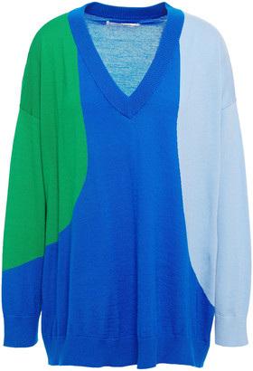 Chinti and Parker Flash Color-block Cashmere Sweater