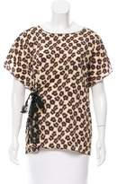 RED Valentino Belted Leopard Print Top