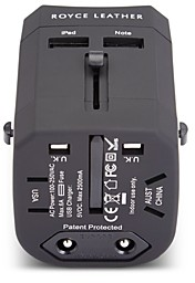 ROYCE New York International Travel Adapter Wall Plug