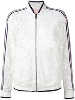 Giamba lace bomber jacket - women - Cotton/Polyamide/Polyester/Spandex/Elastane - 42