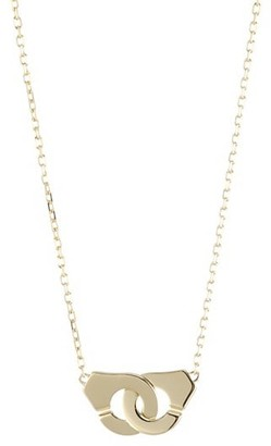 Dinh Van Menottes 18K Yellow Gold Handcuff Chain Necklace