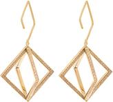 AZLEE Axis diamond & yellow-gold earrings