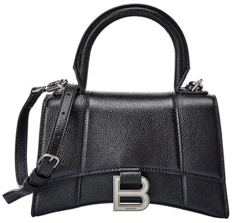 Balenciaga Hourglass Xs Leather Top Handle Satchel