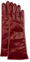 Portolano Nappa Leather Gloves, Garnet Red