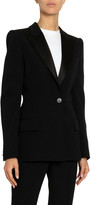 Givenchy Grain de Poudre Satin Lapel Tuxedo Blazer