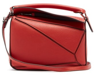 Loewe Puzzle Mini Leather Cross-body Bag - Womens - Red