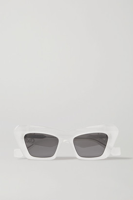 Loewe Oversized Cat-eye Acetate Sunglasses - White
