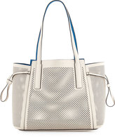 French Connection Nadia Laser-Cut Tote Bag, African Stone