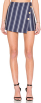1 STATE Button Cross Front A Line Skort